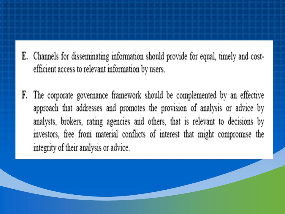 Roles and Responsibilities Everyone in an organization has responsibility for internal control Management Board Internal Auditors Other Personnel –External auditors contribute directly through the financial statement audit and indirectly by providing information useful to management and the board in carrying out their responsibilities