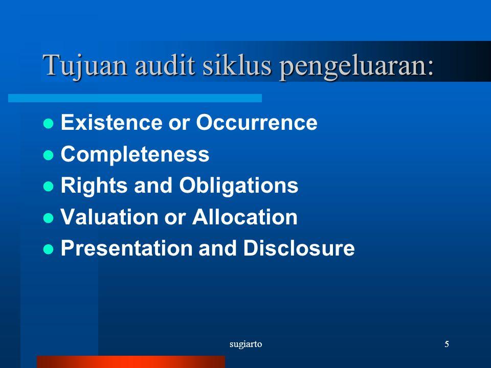 sugiarto46 Cek pembelajaran: 1.Manakah asersi yang penting bagi auditor dalam auidt hutang usaha.