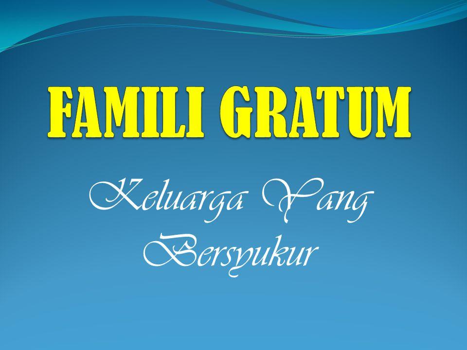 Keluarga Yang Bersyukur