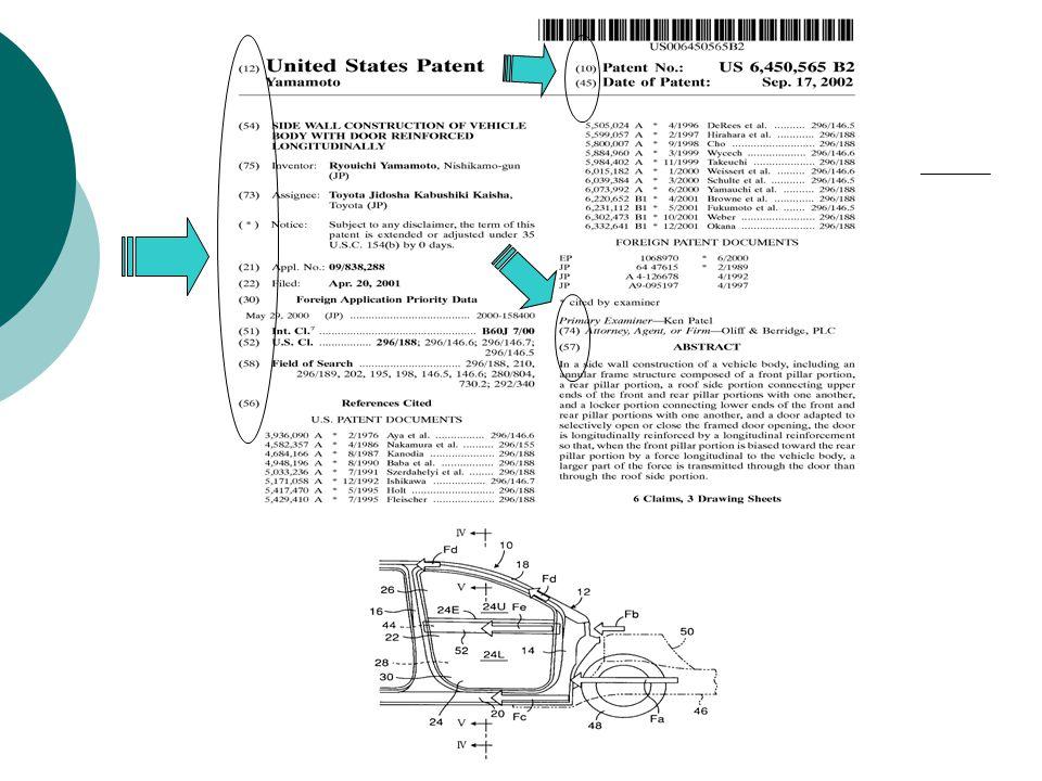 Informasi pada Cover Page Paten USA  [10] Patent No.