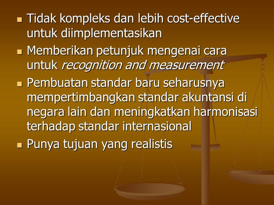 Tidak kompleks dan lebih cost-effective untuk diimplementasikan Tidak kompleks dan lebih cost-effective untuk diimplementasikan Memberikan petunjuk me
