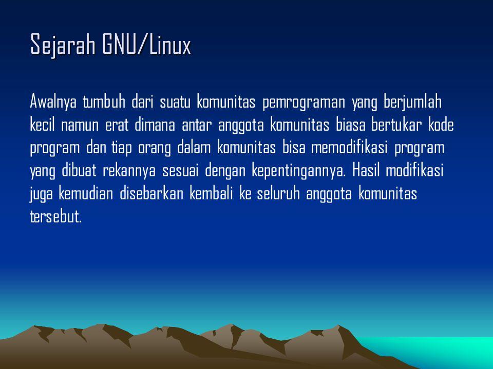 GNU/Linux Desktop vs GNU/Linux Server Apabila di sistem operasi yang kita biasa gunakan seperti produk dari Microsoft yaitu Ms.