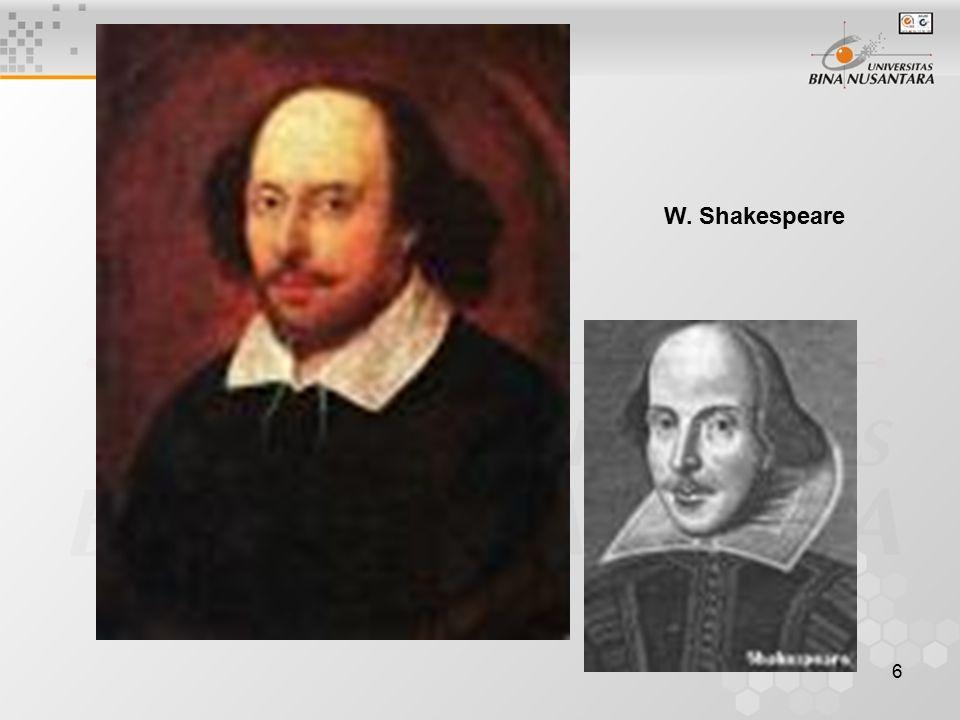 6 W. Shakespeare