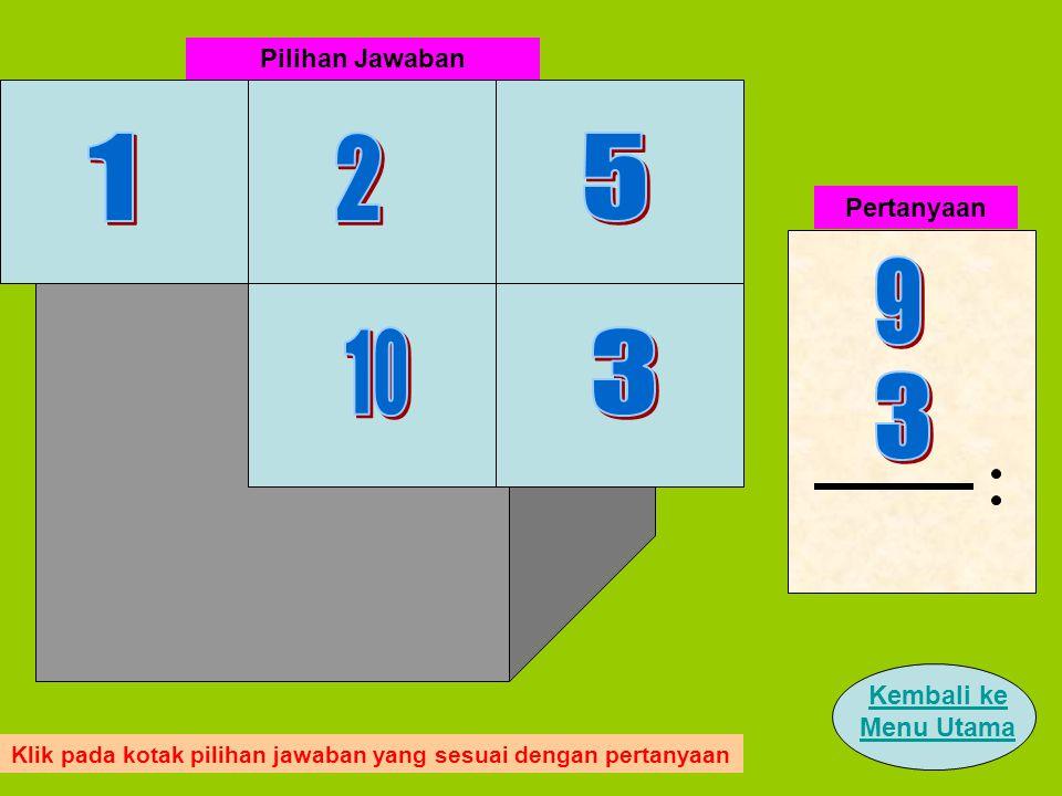 Pertanyaan Pilihan Jawaban Klik pada kotak pilihan jawaban yang sesuai dengan pertanyaan Kembali ke Menu Utama