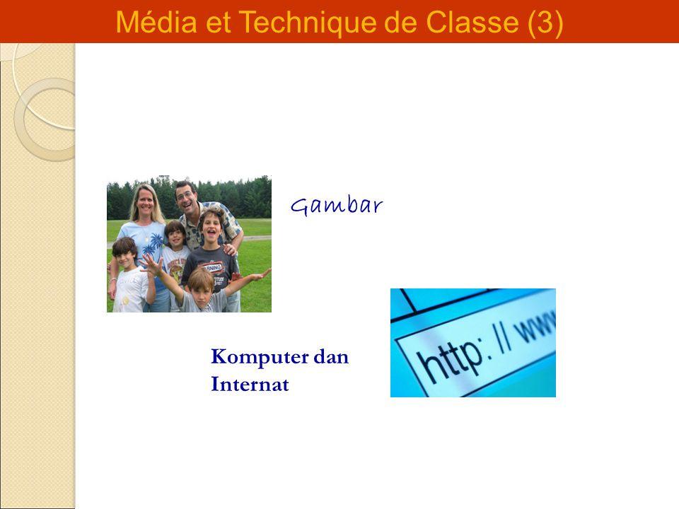 Média et Technique de Classe (3) Gambar Komputer dan Internat