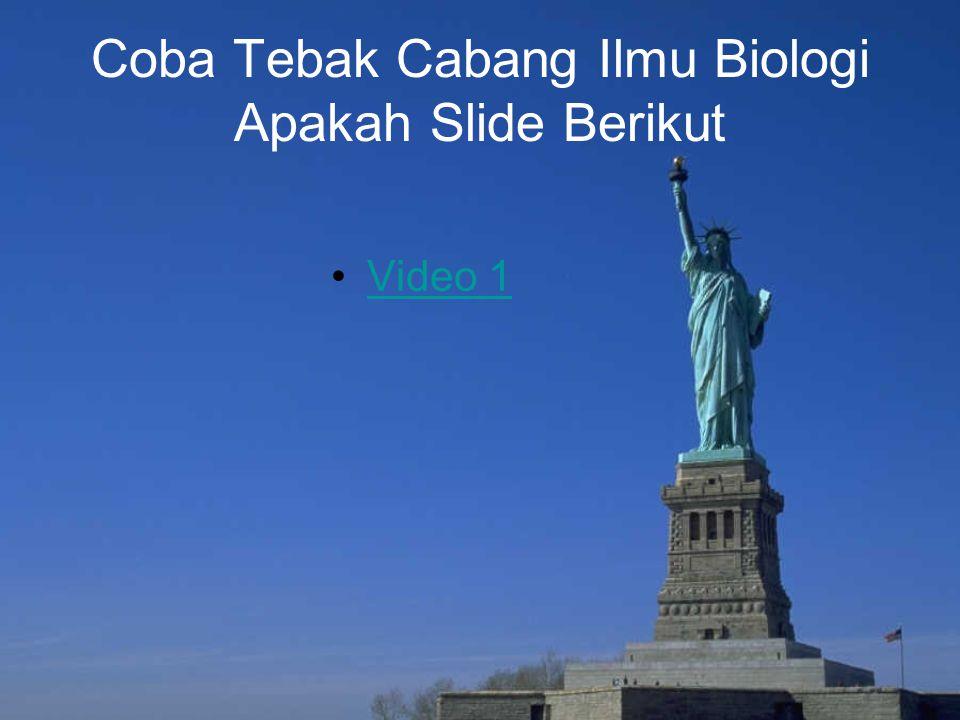Coba Tebak Cabang Ilmu Biologi Apakah Slide Berikut Video 1