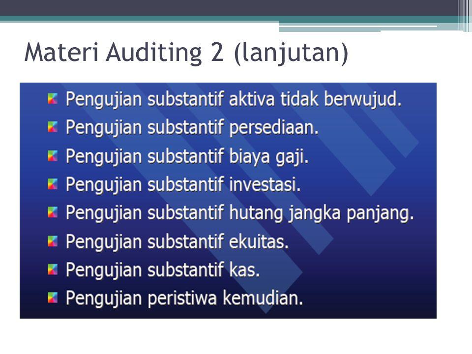 Materi Auditing 2 (lanjutan)