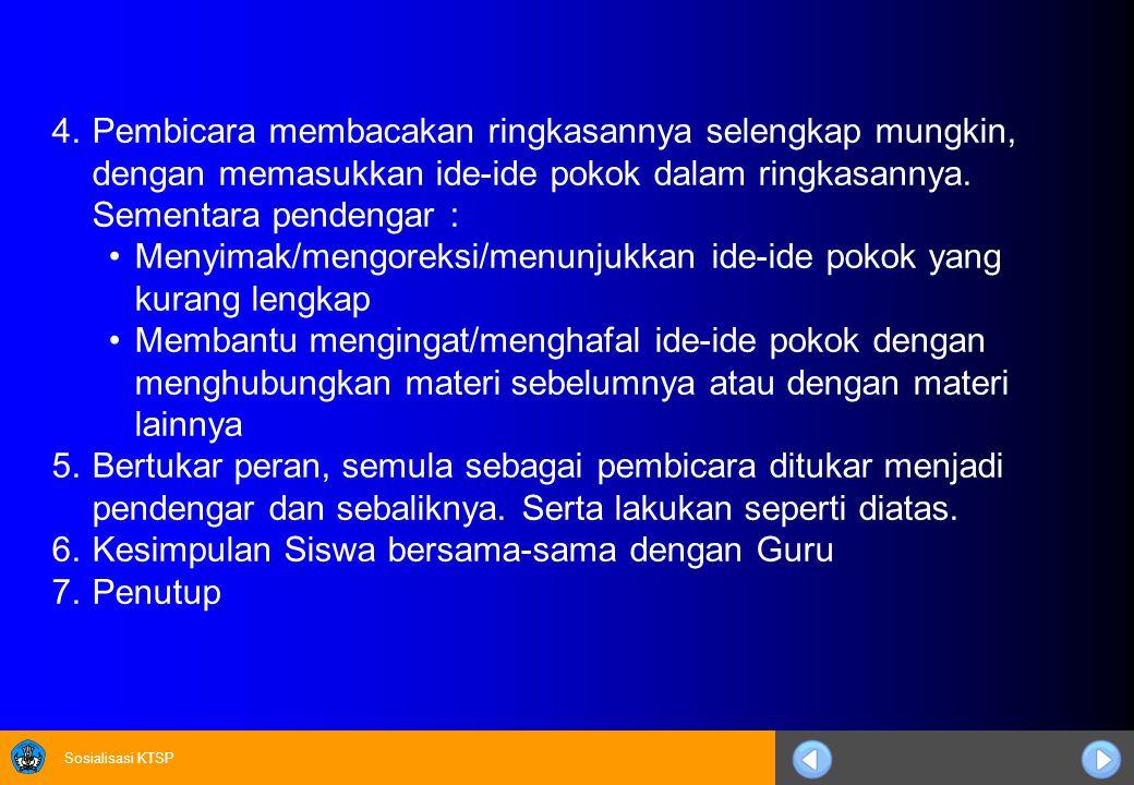 Sosialisasi KTSP 2.VCT Daftar Nilai.
