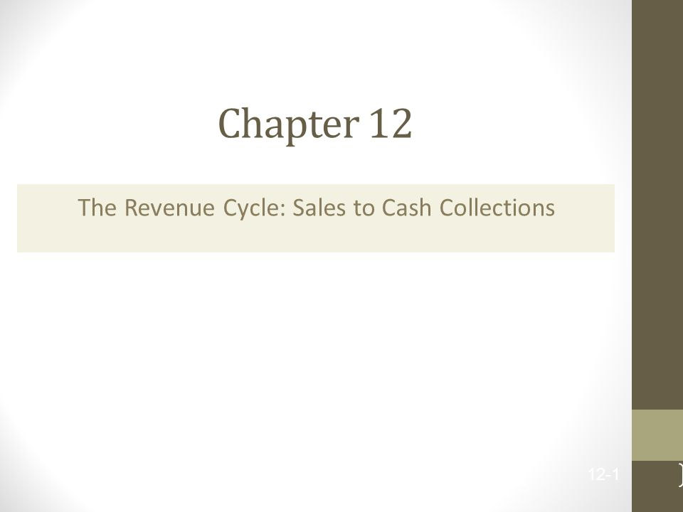 Chapter 12 The Revenue Cycle: Sales to Cash Collections 12-1