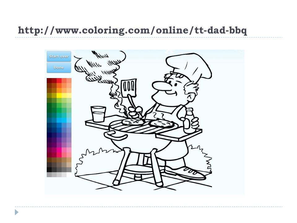 http://www.coloring.com/online/tt-dad-bbq