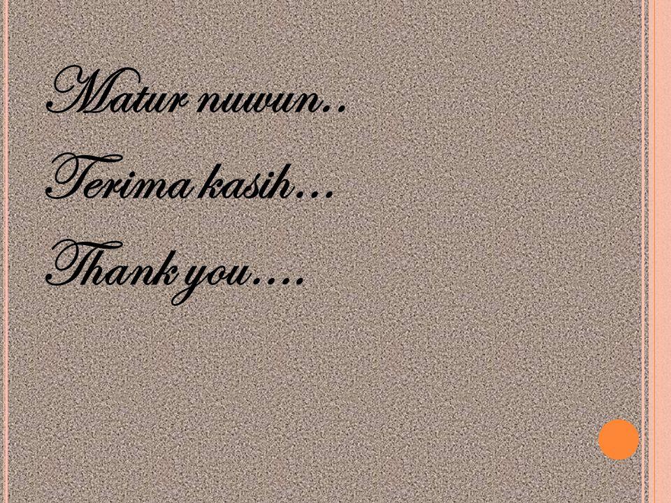 Matur nuwun.. Terima kasih… Thank you….
