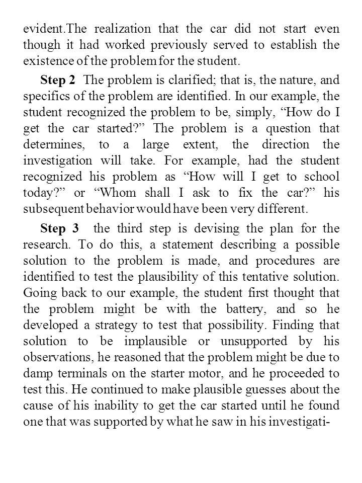 Metoda Ilmiah Masalah 9.