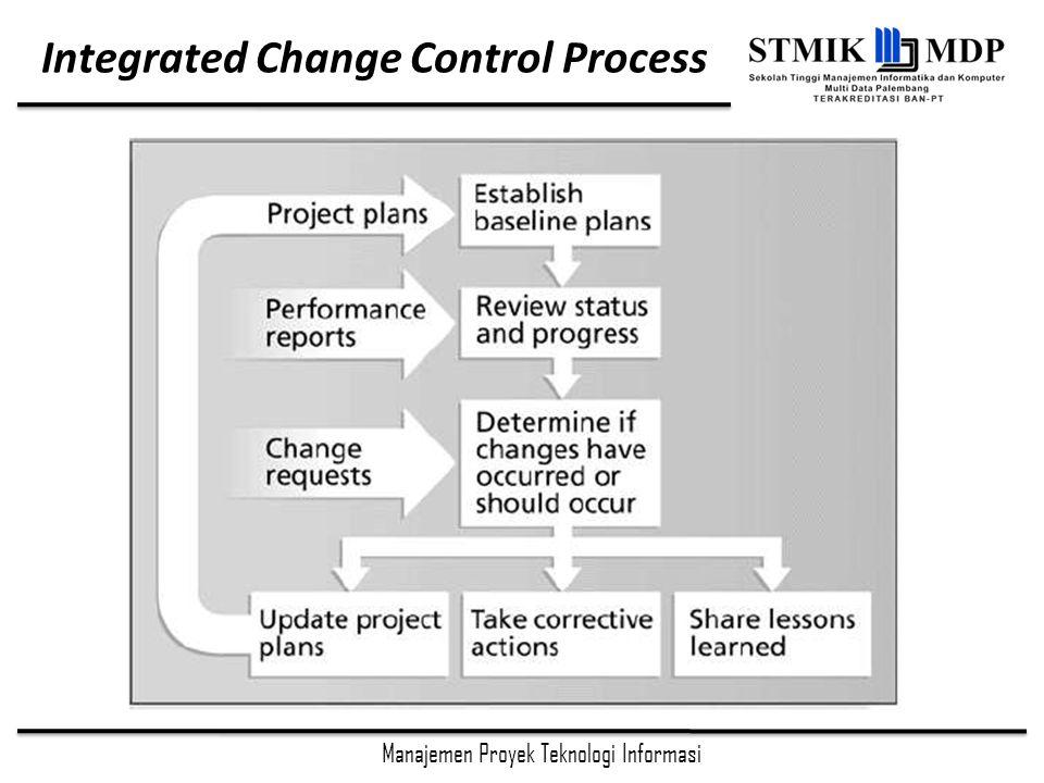 Manajemen Proyek Teknologi Informasi Integrated Change Control Process
