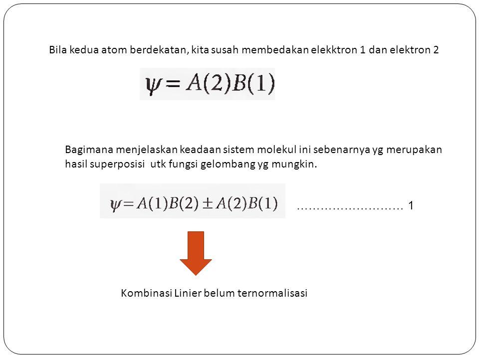 Plotkan kurva energi potensial dan hitunglah energi disosiasi (eV) dan panjang Ikatan kesetimbangan