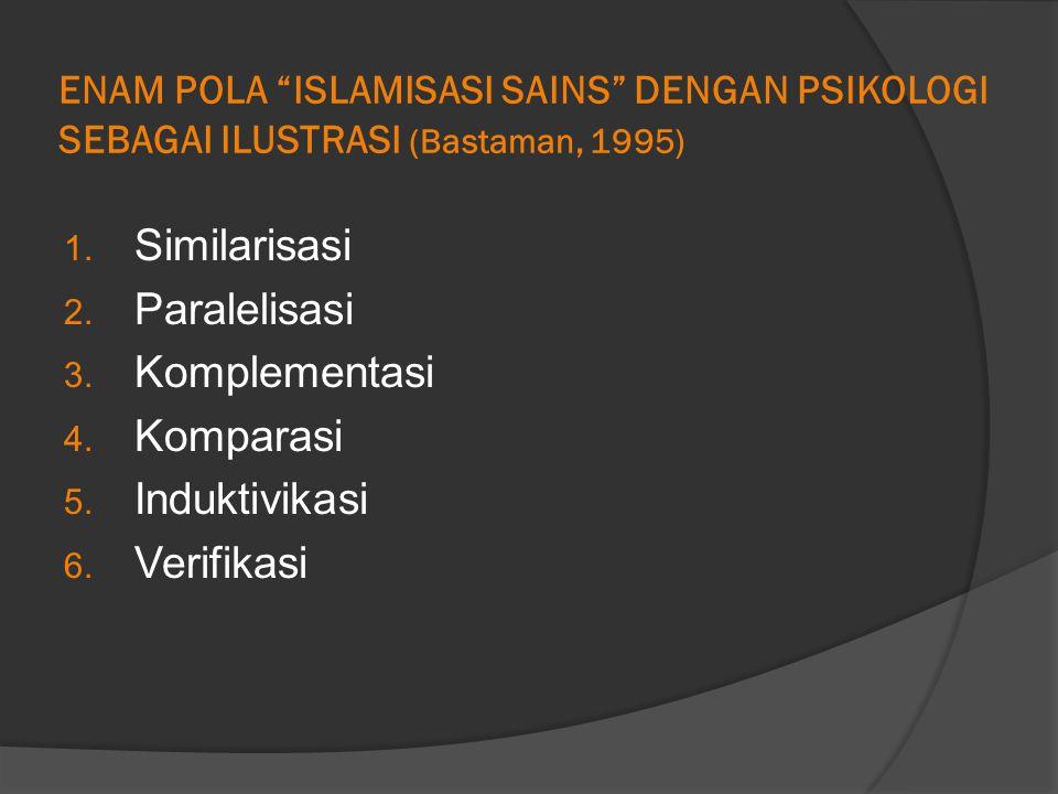 ENAM POLA ISLAMISASI SAINS DENGAN PSIKOLOGI SEBAGAI ILUSTRASI (Bastaman, 1995) 1.