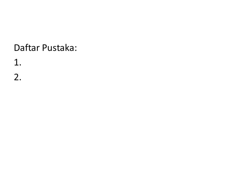 Daftar Pustaka: 1. 2.