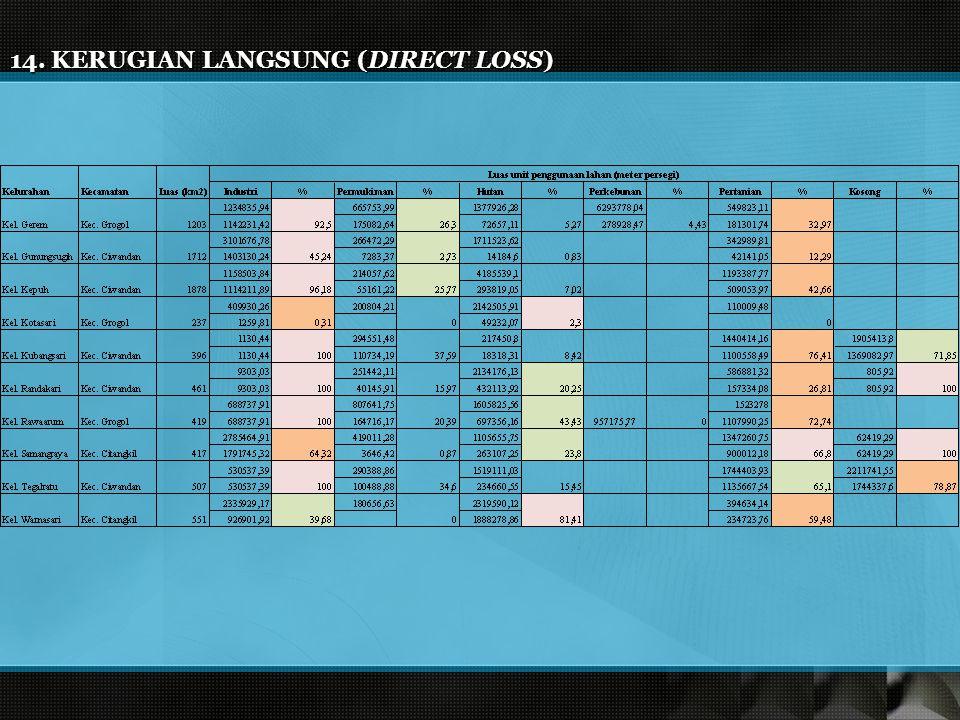 14. KERUGIAN LANGSUNG (DIRECT LOSS)
