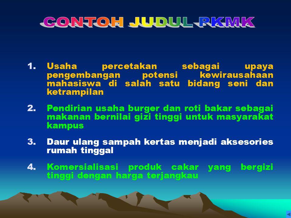 Oleh: Ir. H. Sukardi, MS Reviewer PKM DITLITABMAS DIKTI.