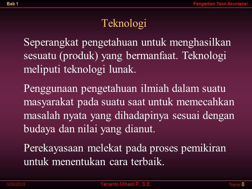 Yananto Mihadi P., S.E.