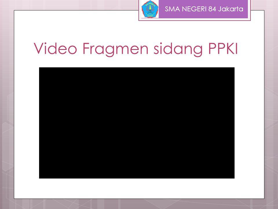 Video Perumusan Pancasila SMA NEGERI 84 Jakarta