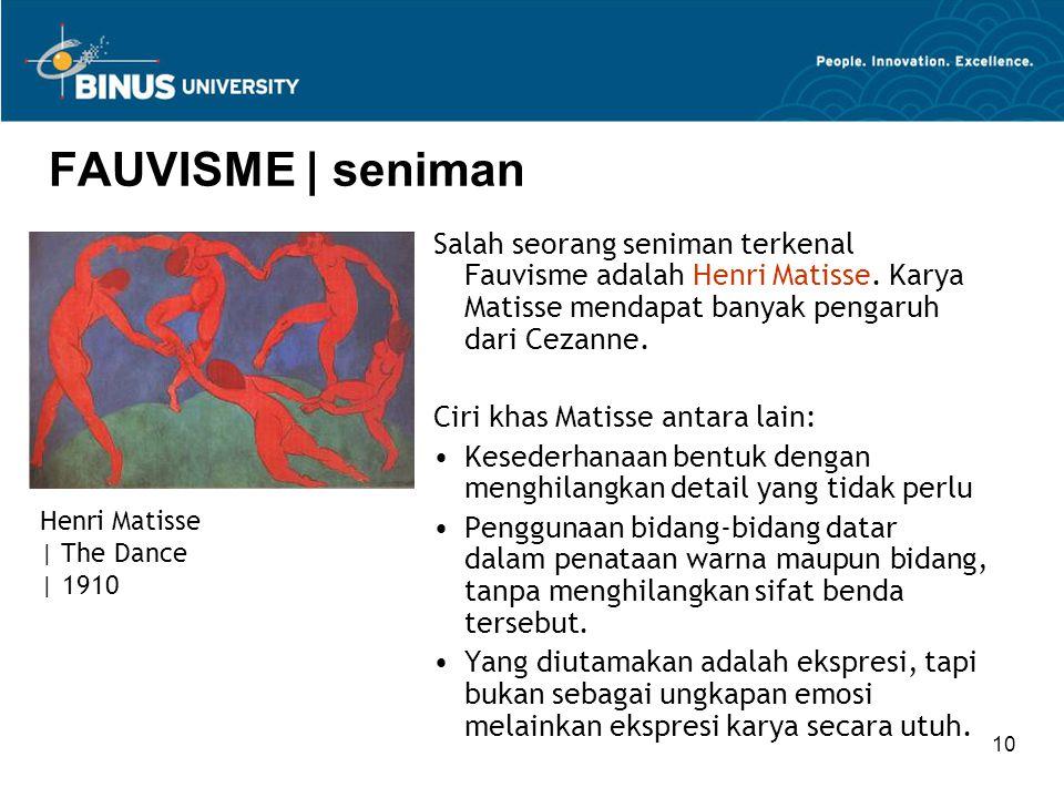 10 FAUVISME | seniman Salah seorang seniman terkenal Fauvisme adalah Henri Matisse.