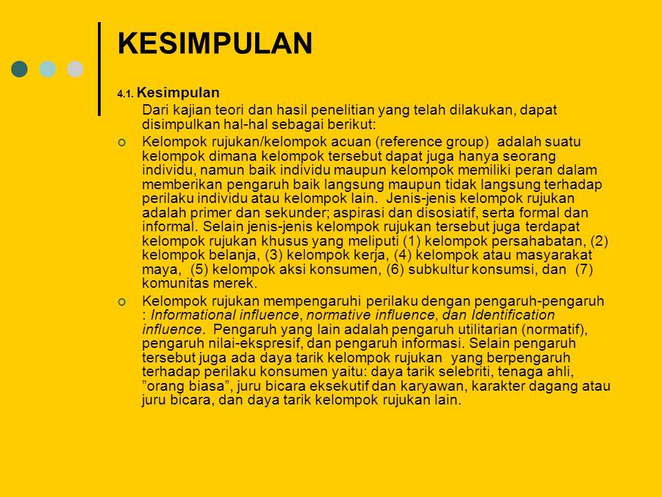 KESIMPULAN 4.1.