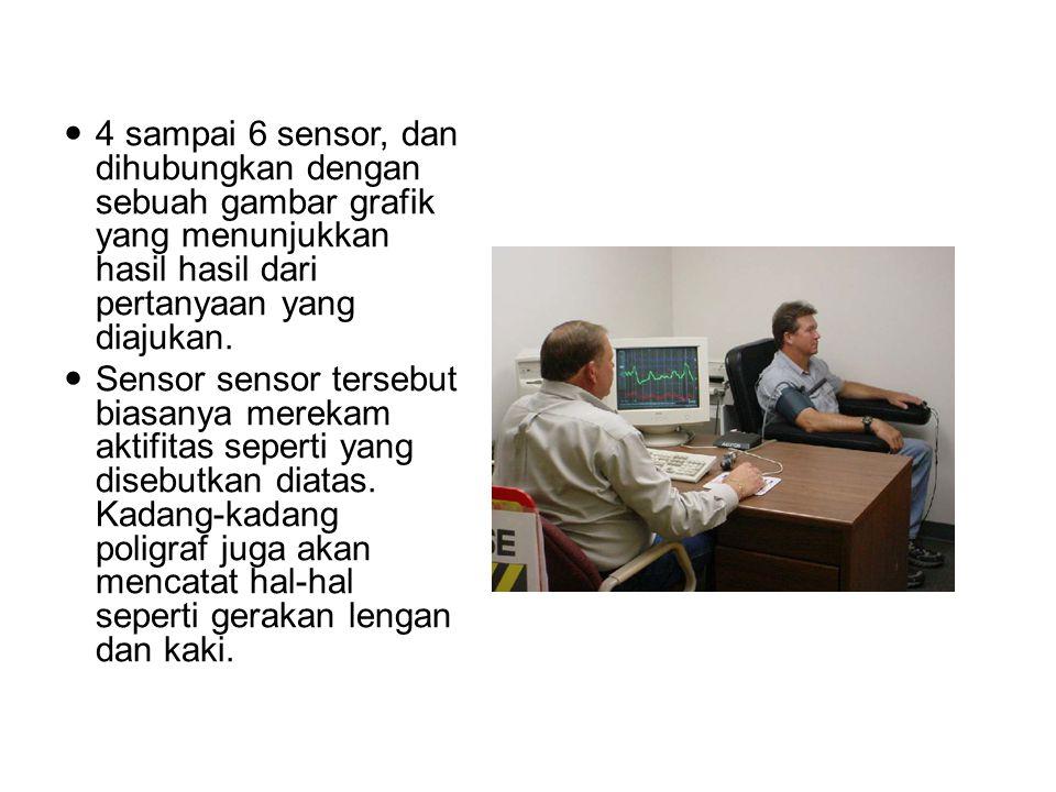 4 sampai 6 sensor, dan dihubungkan dengan sebuah gambar grafik yang menunjukkan hasil hasil dari pertanyaan yang diajukan. Sensor sensor tersebut bias