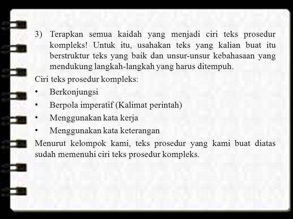 Tugas 4 Menyusun Kembali Urutan Kalimat dalam Teks Prosedur Nama: Destya Nadiana Kelas: X-MIA7 No.