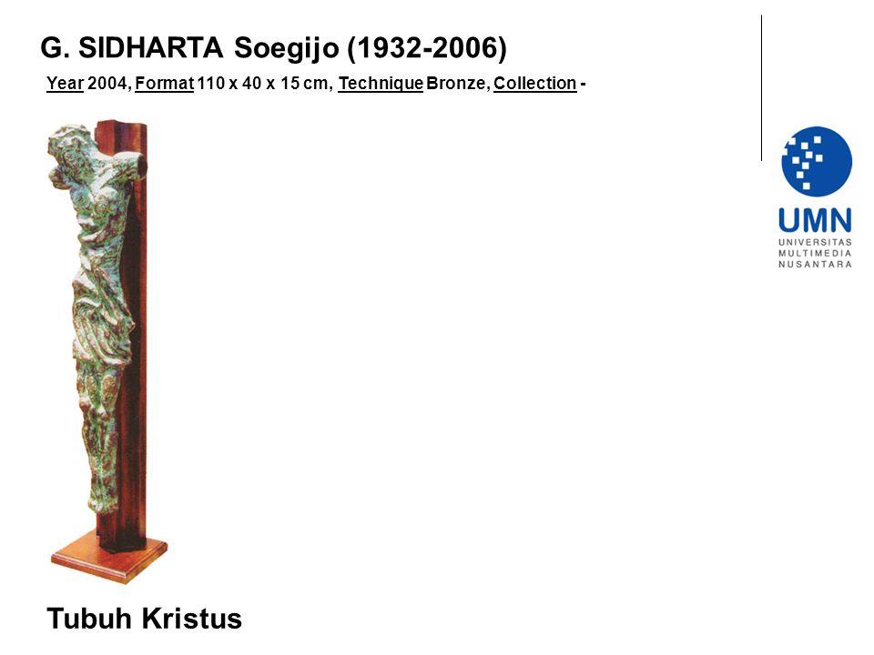 Year 2004, Format 110 x 40 x 15 cm, Technique Bronze, Collection - Tubuh Kristus G.