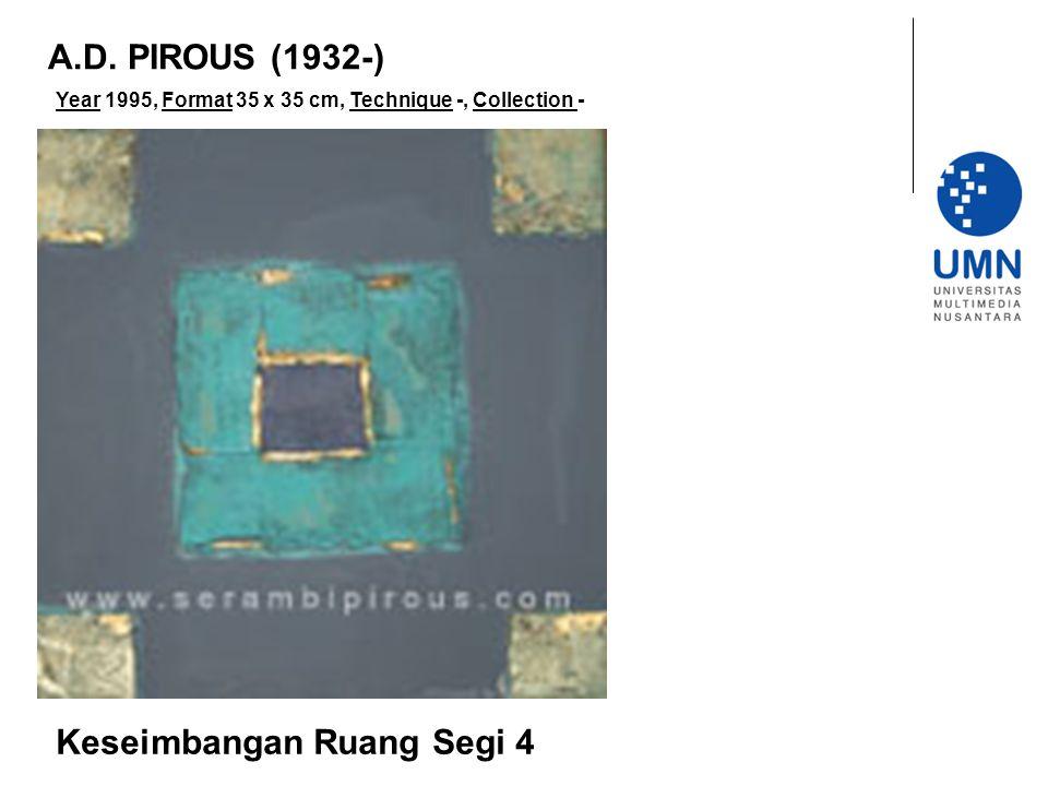 Year 1995, Format 35 x 35 cm, Technique -, Collection - Keseimbangan Ruang Segi 4 A.D.