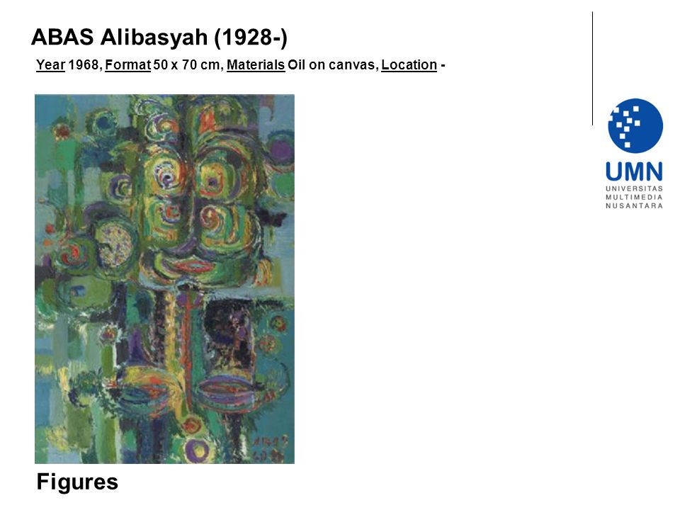 Year 1968, Format 50 x 70 cm, Materials Oil on canvas, Location - Figures ABAS Alibasyah (1928-)