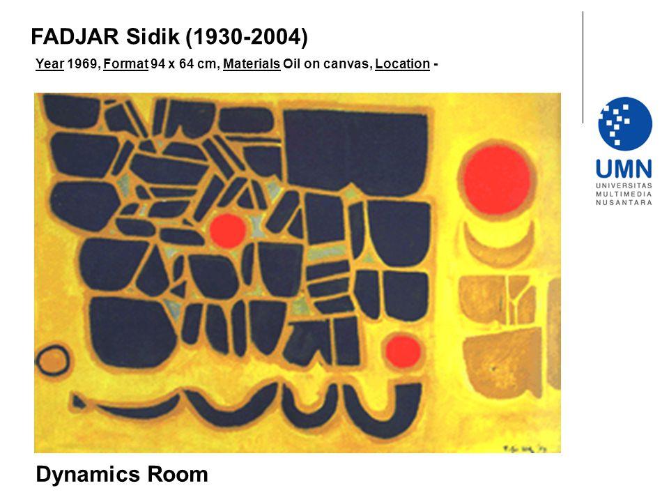 Year 1969, Format 94 x 64 cm, Materials Oil on canvas, Location - Dynamics Room FADJAR Sidik (1930-2004)