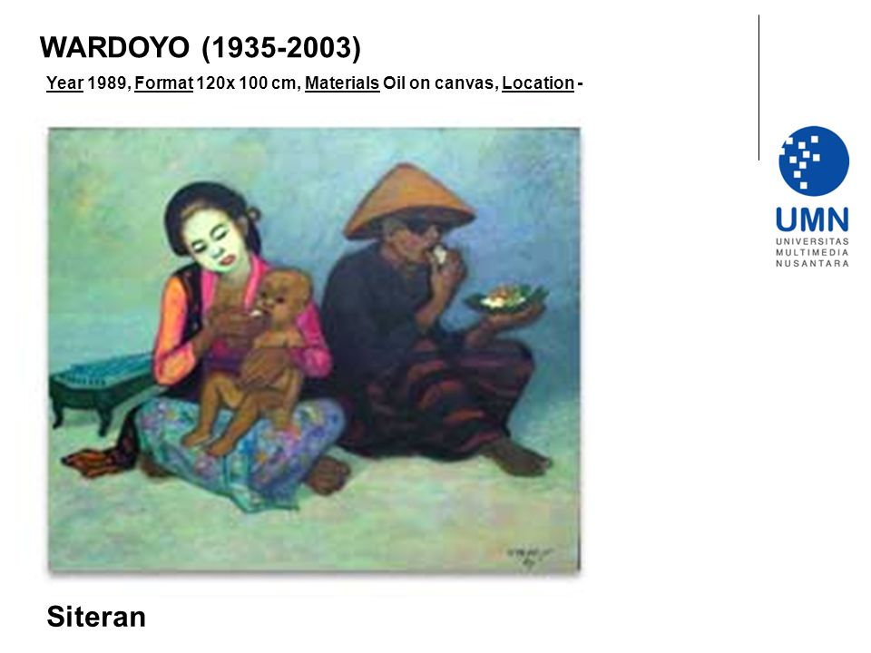 Year 1989, Format 120x 100 cm, Materials Oil on canvas, Location - Siteran WARDOYO (1935-2003)