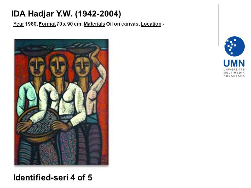 Year 1980, Format 70 x 90 cm, Materials Oil on canvas, Location - Identified-seri 4 of 5 IDA Hadjar Y.W.
