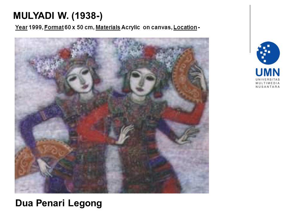 Year 1999, Format 60 x 50 cm, Materials Acrylic on canvas, Location - Dua Penari Legong MULYADI W.