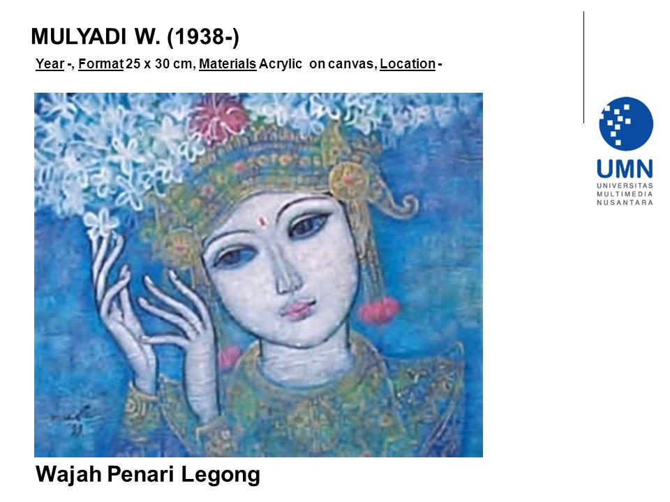 Year -, Format 25 x 30 cm, Materials Acrylic on canvas, Location - Wajah Penari Legong MULYADI W.