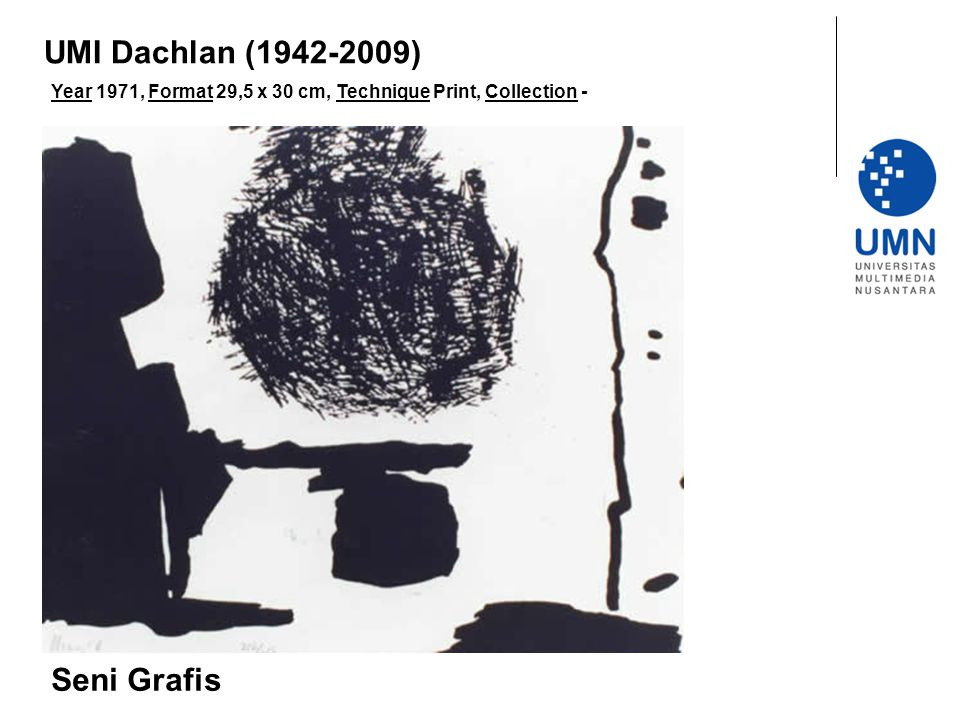 Year 1971, Format 29,5 x 30 cm, Technique Print, Collection - Seni Grafis UMI Dachlan (1942-2009)