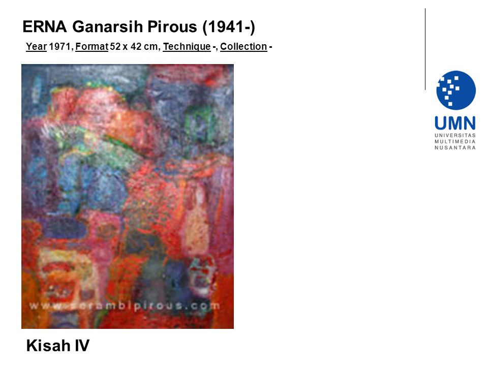 Year 1971, Format 52 x 42 cm, Technique -, Collection - Kisah IV ERNA Ganarsih Pirous (1941-)