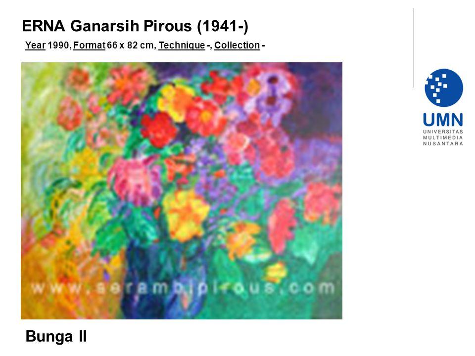Year 1990, Format 66 x 82 cm, Technique -, Collection - Bunga II ERNA Ganarsih Pirous (1941-)