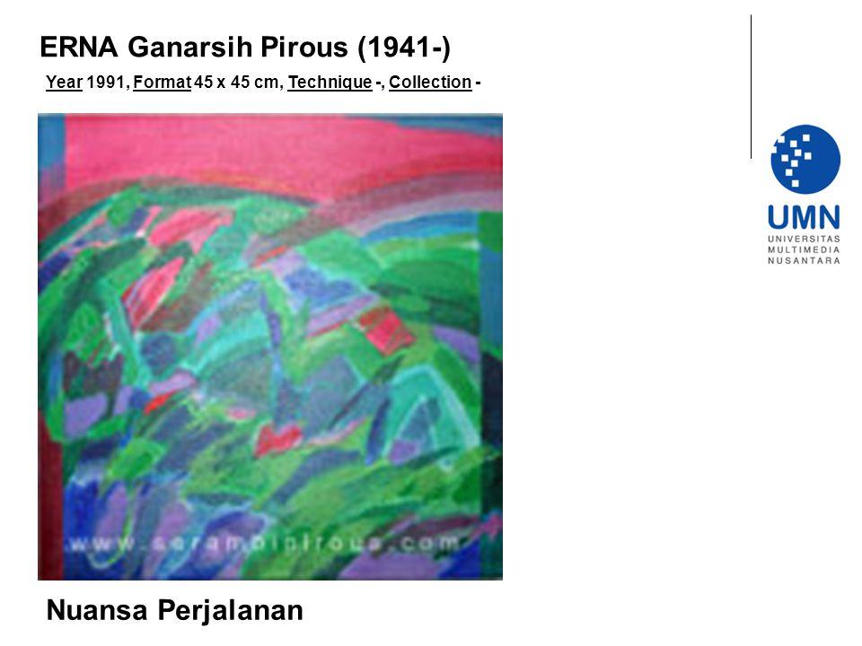Year 1991, Format 45 x 45 cm, Technique -, Collection - Nuansa Perjalanan ERNA Ganarsih Pirous (1941-)