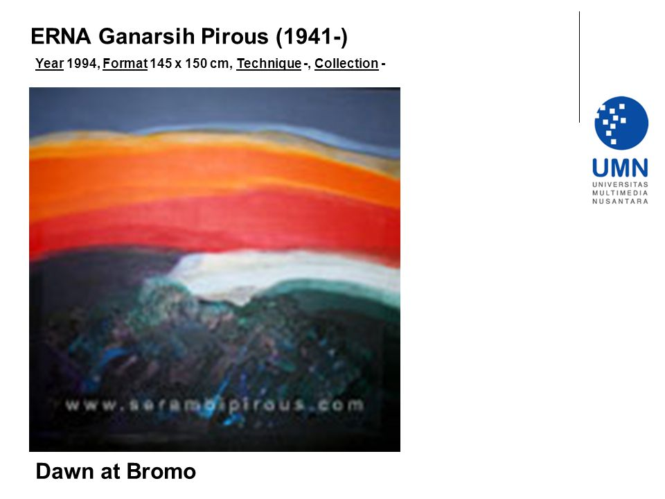 Year 1994, Format 145 x 150 cm, Technique -, Collection - Dawn at Bromo ERNA Ganarsih Pirous (1941-)