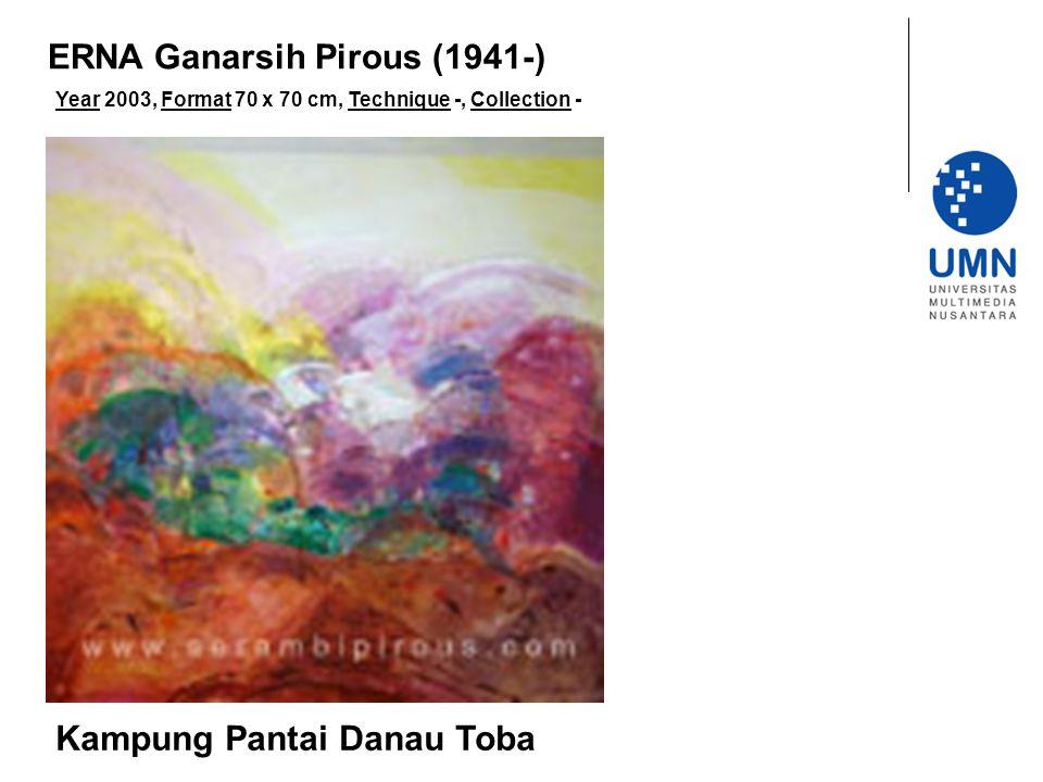 Year 2003, Format 70 x 70 cm, Technique -, Collection - Kampung Pantai Danau Toba ERNA Ganarsih Pirous (1941-)