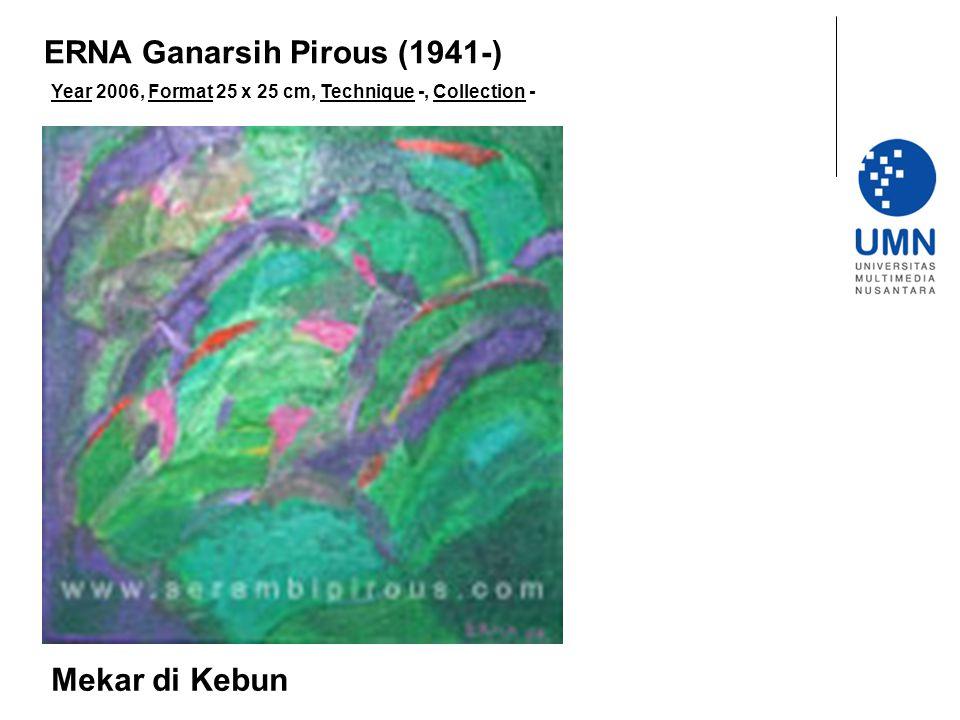 Year 2006, Format 25 x 25 cm, Technique -, Collection - Mekar di Kebun ERNA Ganarsih Pirous (1941-)