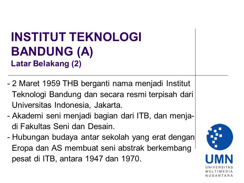 INSTITUT TEKNOLOGI BANDUNG (F) Seni Lukis, Bentuk Simbolisme (1) - Berbeda dengan pengajar angkatan pertama ITB, Gregorius Sidharta dan A.D.