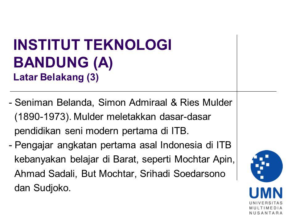 INSTITUT TEKNOLOGI BANDUNG (F) Seni Lukis, Bentuk Simbolisme (2) - Sidharta mengambil ilham dari seni kriya tradisi- onal Indonesia dan mengekspresikan dalam berbagai media.