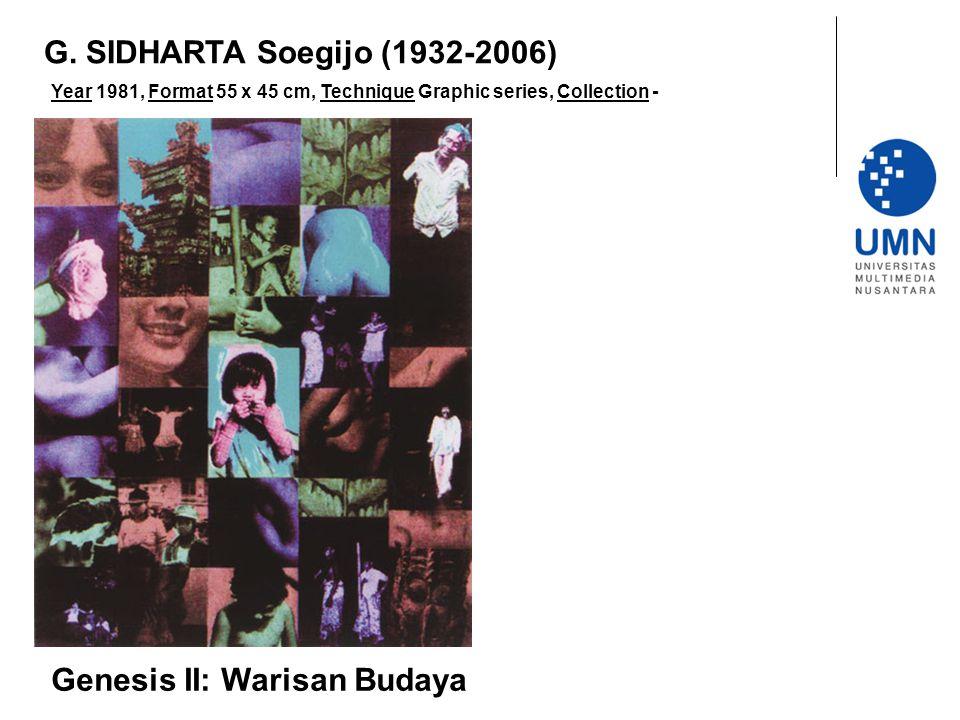 Year 1981, Format 55 x 45 cm, Technique Graphic series, Collection - Genesis II: Warisan Budaya G.