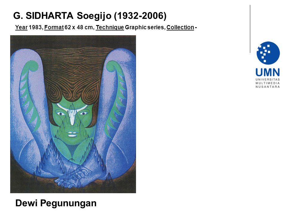Year 1983, Format 62 x 48 cm, Technique Graphic series, Collection - Dewi Pegunungan G.