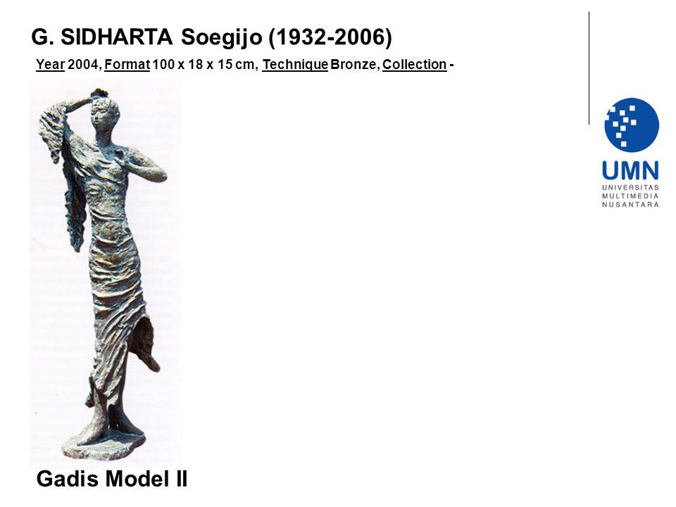 Year 2004, Format 100 x 18 x 15 cm, Technique Bronze, Collection - Gadis Model II G.