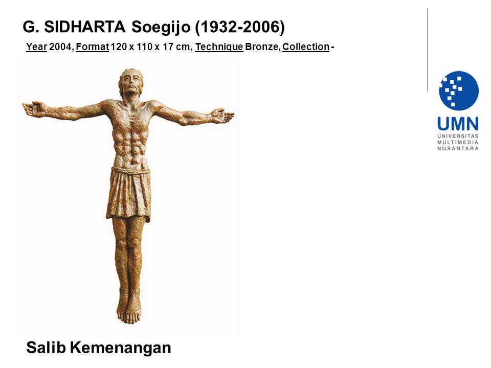 Year 2004, Format 120 x 110 x 17 cm, Technique Bronze, Collection - Salib Kemenangan G.