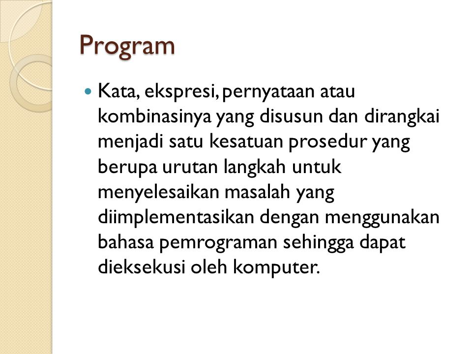 Tahap Pengembangan Program